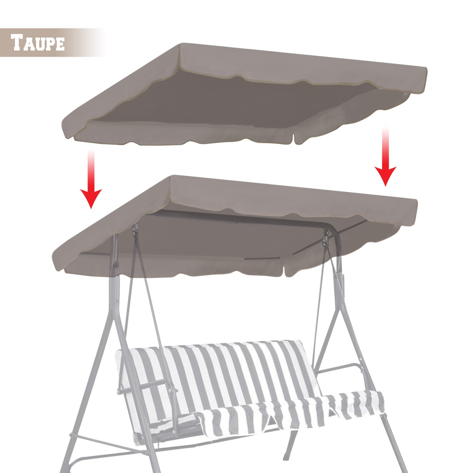 BenefitUSA Patio Outdoor 77 x43  Swing Canopy Replacement Porch Top Cover Seat Furniture (  sc 1 st  Amazon.com & Canopy for Swing Set: Amazon.com