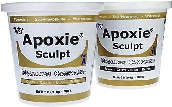 Apoxie Sculpt - 2 Part Modeling Compound (A & B) - 4 Pound, Natural