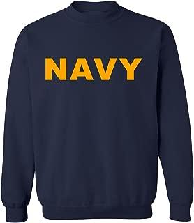 ZeroGravitee Navy Navy Crewneck Sweatshirt with Gold Print