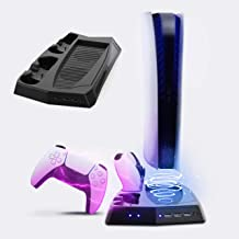 PS5 ALL-IN-ONE Cooling Stand with Fan for SONY PlayStation 5 Standard / Digital Edition Game Console PS5 Accessories Charg...