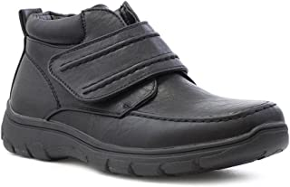 Cushion Walk Mens Black Easy Fasten Casual Boot - Size