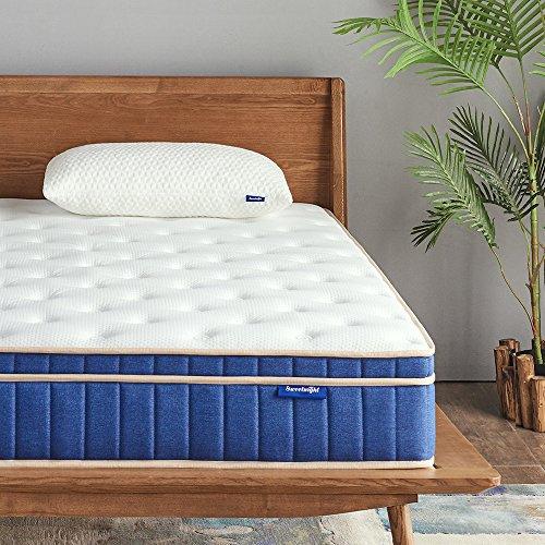 """Sweetnight Ocean Blue 8"""" Hybrid Mattress   Gel Memory Foam & Individually Pocket Springs   Queen Size"""