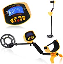 KKmoon Metal Detector, Metal Detector High Accuracy Waterproof 2 Modes Outdoor Gold Digger with Sensitive Search Coil LCD Display for Beginners Professionals