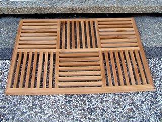 "New Grade A Teak Wood 36""x24.5"" Basket Weave Door / Shower/ Spa / Bath Floor Mat #WHAXBWFM"