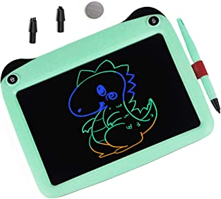 mom&myaboys Upgraded Colorful Screen 9 Inch Electronic Writing Board Doodle Board-Best Gifts for Kids (Green)