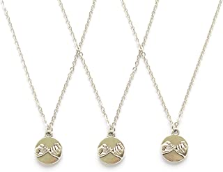 3 Pinky Promise Pinky Swear Best Friends BFF Sisters Necklaces