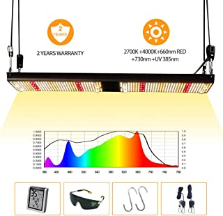 Updated 2019 Version Full Spectrum LED Plant Grow Light,240W Real Power Samsung Lm301b White Mix Cree 660nm Deep Red 730nm Far Red 385nm UV Quantum led Board Kit for Veg and Bloom by Bavagreen