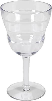 CreativeWare CH549 Lemonade Wine Glass (Set of 4), Clear
