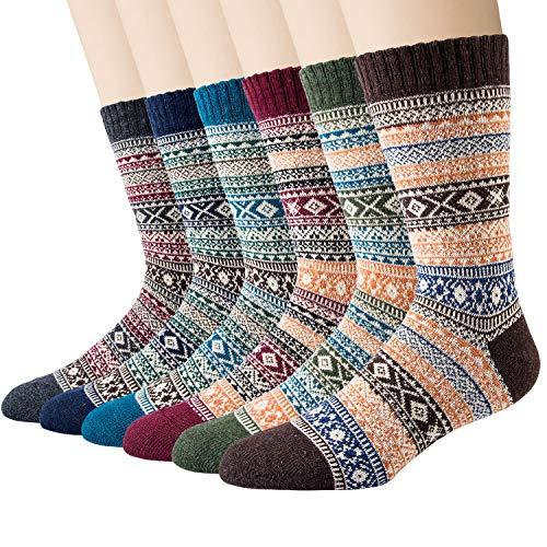 Justay 6/5 Paar Warme Wolle Dicke Winter socken Stricksocken 38-45 MEHRWEG