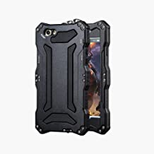 iPhone 5 SE Case,bpowe Gundam Gorilla Glass Aluminum Metal premium protection Shockproof Military Bumper Heavy Duty Sturdy Protective Cover Shell Case for iPhone 5 5s SE (Black)
