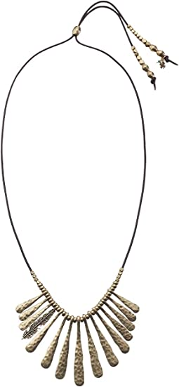 Lucky Brand Indian Spice Gold Fan Necklace
