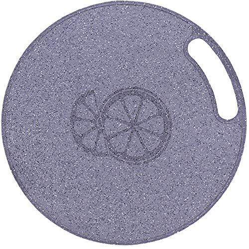 Tabla de Cortar Redonda, Tabla de Cortar Cocina Plástico, Tablas de Cortar de Plástico, Juego de Tabla de Cortar, Tablas de Cocina de Flexible, para Todo Tipo de Alimentos Crudos y Cocinados