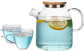 Butelka na zimną wodę kubek na zimną wodę o wysokiej pojemności odporny na ciepło i wybuch szklany zestaw butelek domowy o...