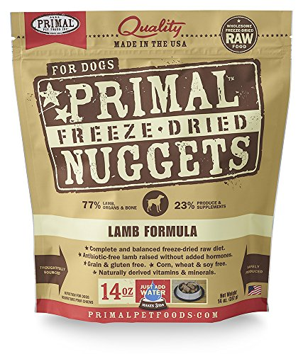 Primal Pet Foods Freeze-Dried Canine Lamb Formula Nt. Wt. 14 Oz
