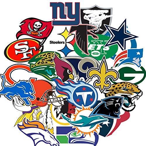 Fußball-Aufkleber, NFL-Aufkleber, Fußball-NFL-Team-Aufkleber, kreative DIY-Aufkleber, dekorativ für Autos, Motorrad, Fahrrad, Skatebo, Gepäck, Computer, Notebook, Telefon usw.