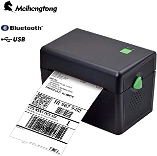 Meihengtong MHT-DT108B Label Printer, Desktop Thermal Label Printer for BarCodes, Labels, Print Width of 2-4 in, Bluetooth & USB Port Connectivity for Windows PC (Bluetooth&USB)