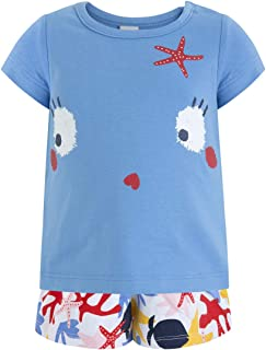 Tuc Tuc Camiseta+Falda-Pantalã³n Punto Niã±a Arrecife de Cor Conjunto de Ropa para Niñas