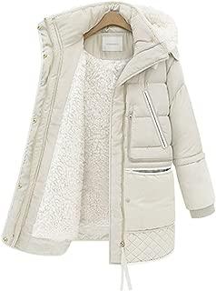 ZUOMAレディース 冬保温コート 軽量ダウンコート 綿入れ上着 ロングコート 飾りの胸ポケット オーバーサイズ ファー フード ムートンコート お繋ぎ サロペット