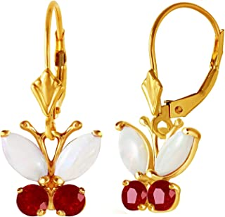 Lex /& Lu 14k White Gold Polished Amethyst Bow Post Earrings