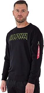 ALPHA INDUSTRIES Men's Alpha Embroidery Sweater Sweatshirt