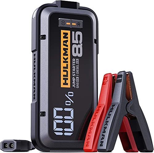 HULKMAN Alpha85 Jump Starter 2000 Amp 20000mAh Car Starter for up to 8.5L Gas and 6L Diesel Engines with LED Display ...