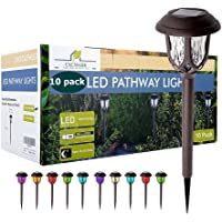 Deals on 10 Pack EXCMARK Color Changing Solar Lights Outdoor Decorative