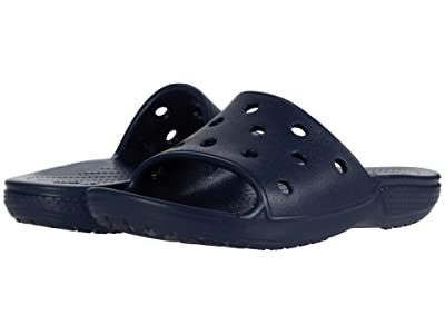 Crocs Kids Classic Slide (Little Kid/Big Kid) (Navy) Kid