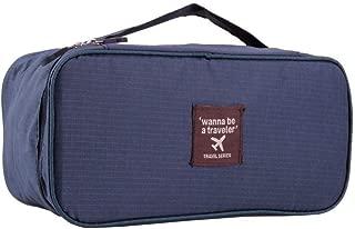 Portable Protect Bra Underwear Lingerie Case Waterproof Travel Organizer Blue Bag