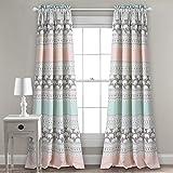 Lush Decor Elephant Stripe Curtains Pattern Room Darkening...
