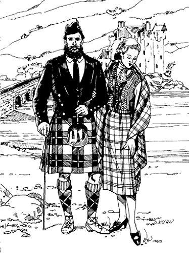 Folkwear Scottish Kilts #152 Highland Scotland Scottish Kilt Jacket Traditional Sewing Pattern & Knitted Vest (Pattern Only) folkwear152