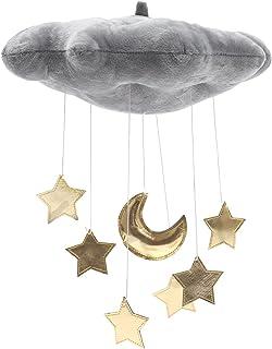 WINOMO Décoration de plafond pour bébé avec nuage et étoiles - Pour chambre d'enfant, fête prénatale - Gris