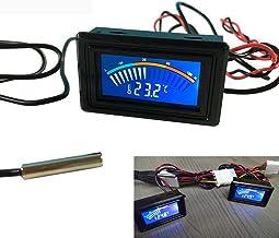 TuToy Dc 5-25V Termómetro Medidor De Pantalla Digital De Temperatura Para Computadora Coche Medición En Agua Celsius + 1M Sonda Termómetro Para Coche