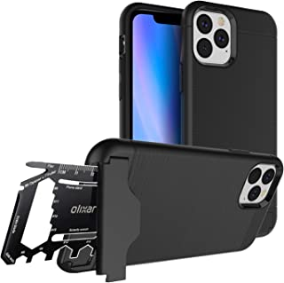 Olixar for iPhone 11 Pro Tough Case - with 26 in 1 Survival Multi Tool - Protective Armour Cover - Credit Card Slot & Built in Stand - X-Ranger - Black