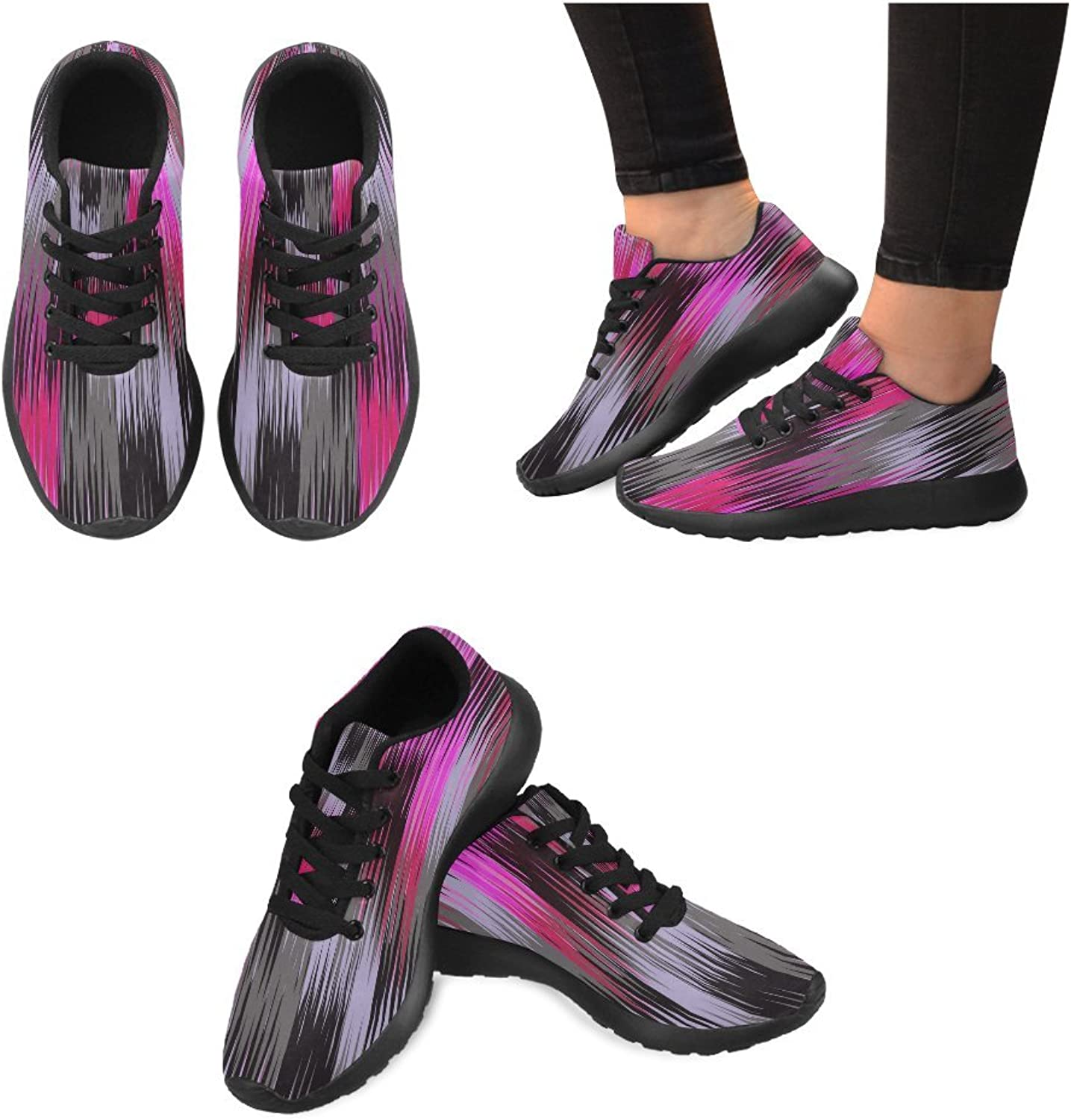 InterestPrint hot color Flowers Pattern Print on Women's Running shoes Casual Lightweight Athletic Sneakers US Size 6-15