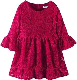LittleSpring Little Girls' Dress Christmas Lace