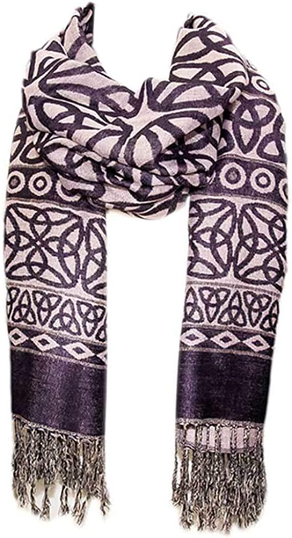 Celtic Weave Scarf Irish Albuquerque Mall Purple outlet - Style