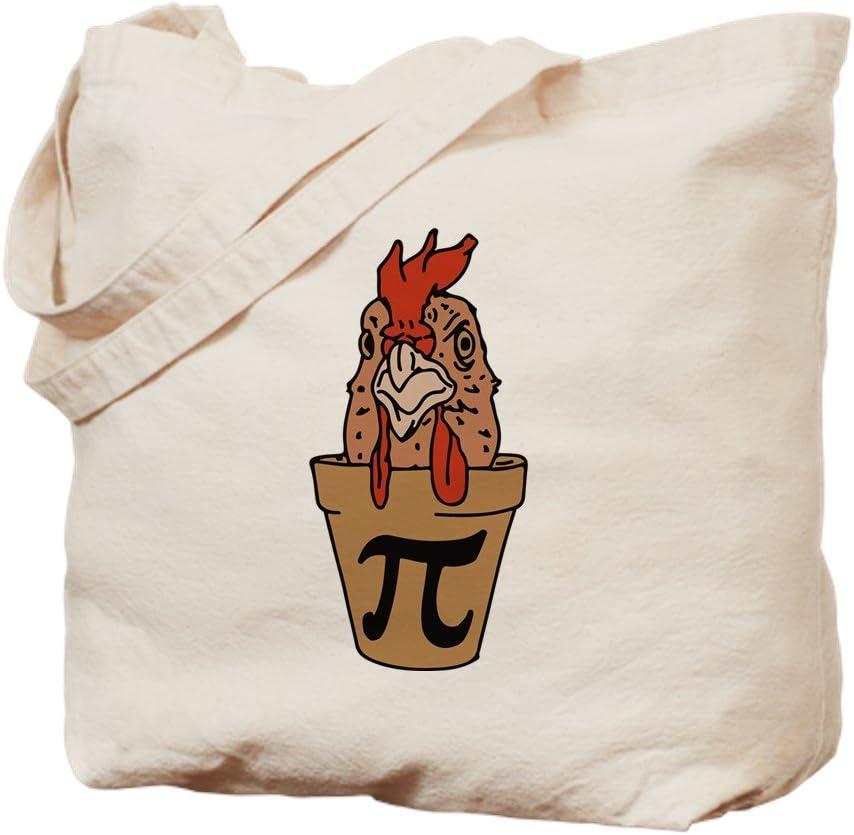 CafePress Chicken Pot Pi Tote Bag Natural Canvas Tote Bag, Reusable Shopping Bag