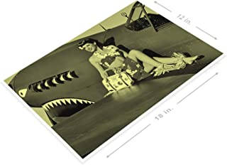 PosterGlobe Poster B145 Final Mission WW2 Aviation Pin-Up Girl Hangar Garage Cave 12