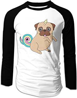 Eyscar Men Logo of I'm A Unipug_ Cotton Baseball Raglan Full T Shirts