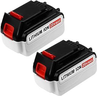 2 Pack 5000mAh LBXR20 Replace for Black and Decker 20V Lithium Battery Max LBXR20 LBXR20-OPE LB20 LBX20 LBX4020 LB2X4020-OPE Batteries