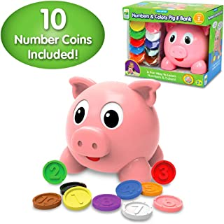 The Learning Journey Learn with Me - Numbers & Colors Pig E Bank - Color and Number STEM - Teaching Toddler Toys & Gifts for Boys & Girls Ages 2 Years and Up