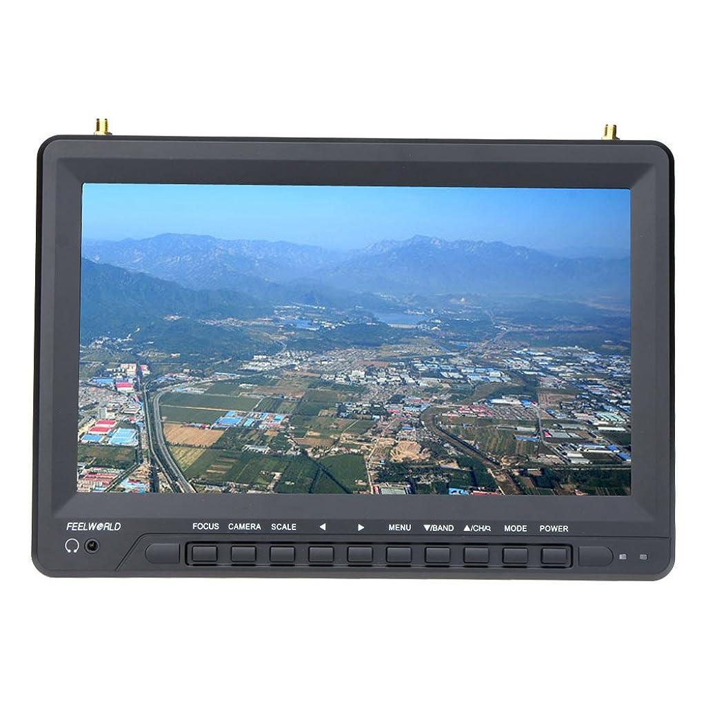 農学磁石保護するFeelworld FPV1032 FPV 10.1'' HD TFT LCD モニター 1024 * 600 HDMI デュアルレシーバアンテナ FPV 高精細航空写真専用 モニター【並行輸入品】