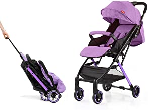 ZL Lightweight Stroller Compact Pushchair Stroller Foldable Travel Buggy with Reclining Backrest (0-36 Months),E