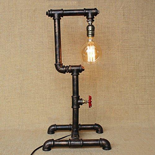 TOYM UK Industriel Américain LOFT Rétro Ferronnerie Industrielle Tuyau D'eau Antique Tube Creative Bar Table Lampe