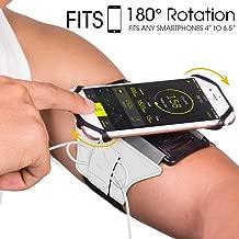VUP Brazalete deportivo Teléfono móvil para iPhone X/XR/7/8 Plus/6s,Samsung Galaxy S8/S9 Plus,180°rotación liberal compatible con el tamaño de la pantalla del teléfono 4-6 pulgadas (plata reflectante)