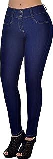 ORANDESIGNE Mujer Casual Demin Vaqueros Stretchy Skinny Pantalones Vaqueros Cintura Alta Mezclilla Jeans
