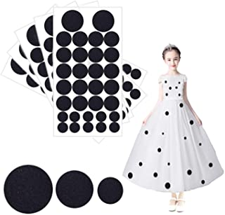 160 Pieces Black Adhesive Felt Circles Felt Pads for Halloween DIY Sewing Projects Costume 1.97 Inches/ 1.50 Inches/ 0.98 ...