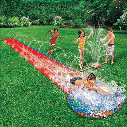 Scivolo e Piscina Con Fontanelle Acqua Garden 487.68 cm Da Bambini Gioco Per Giardino