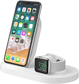 Belkin F8J235 Boostup Wireless Charging Dock for Apple iPhone/Apple Watch/USB-A Port, White