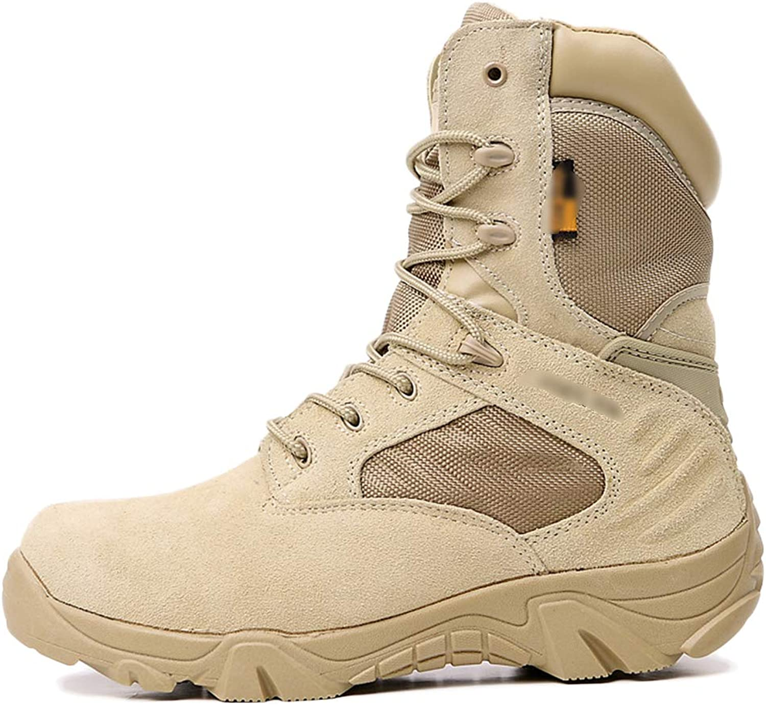 Mens Boots Tactical Desert Patrol Lace-ups Boots Outdoor Hiking High Top Army Boots